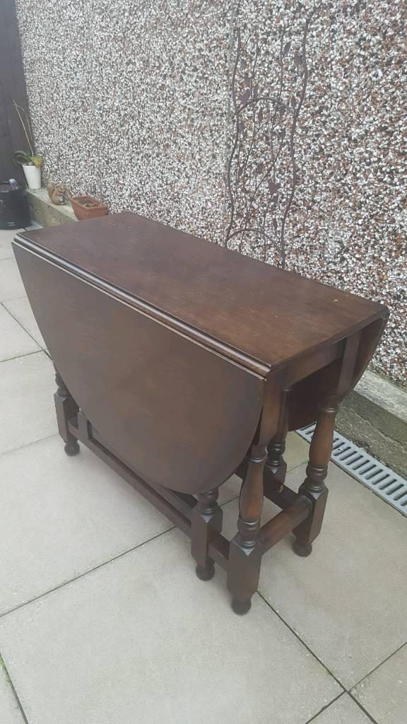 Vintage solid oak dropleaf Dining Table