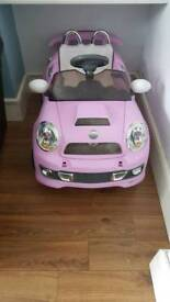 Pink Kid's Electric Ride On Car