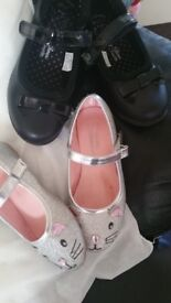 4 pairs of girls shoes, 2 size 10, 2 size 11