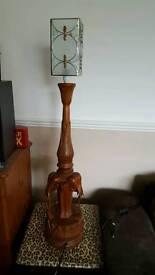 Beautiful carved Elephant lamp