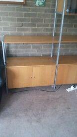 Ikea wall unt c/w glass cupboard...