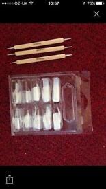 Professional nail tips and nail art dotters