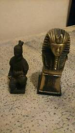 Egyptian and terra cotta figure