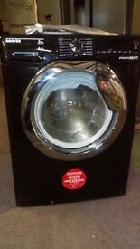 HOOVER black 9KG WASHING MACHINE new ex display which may have minor marks or blemishes.