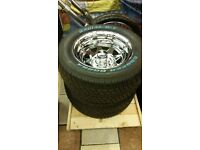 BRAND NEW 'CRAGAR', VW FITTING RIMS WITH BRAND NEW, 175 X 50 X 15 TYRES x 2