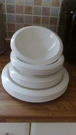 Jamie Oliver (Churchill Crockery made in England)) 12 pieces = 4 Place settings.
