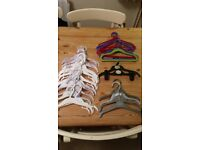 FREE - selection of clothes hangers for baby/child