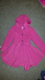 Girls Coat 8-9 Years. Pink