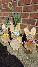Easter wood Bunnies