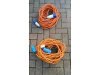Electric hook up cables £12.50 each