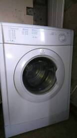 Indesit white 3/4 year old tumble dryer