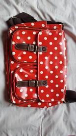 Red Spotted Messenger Bag