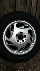 ALLOY WHEELS AND GOOD TIRES FOR MERCEDES V220 VITO VIANO ETC