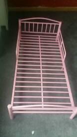 Pink toddler bed frame