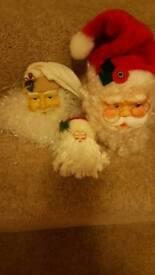 3 christmas santa face's
