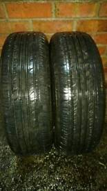 2 X 185 65 R15 CITROEN PICASSO WHEELS, TYRES 7 MM TREAD DEPTH -2 YEARS OLD VERY GOOD CONDITION