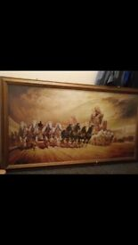 29x54 inch framed print by reauto casaro titled ben hurr