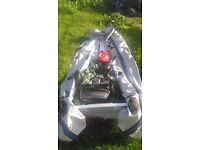 Boat and 8hp outboard for sale 12ft