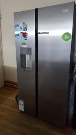 Beko ASGP342X American-Style Fridge Freezer - Stainless Steel