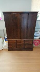 Large Laura Ashley TV Stand With Draws