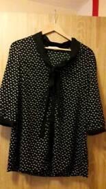 Polka dot blouse size 10