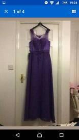 Cadbury purple prom dress size 12-14