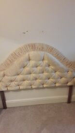 Single satin headboard