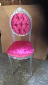 Restored ornate chair