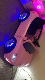 Pink 6v electric car with parent control