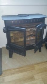 Hunters dual fuel woodburner