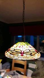 Stained glass dining light
