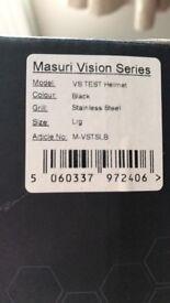 masuri Stainless steel Helmet used once, large adjustable