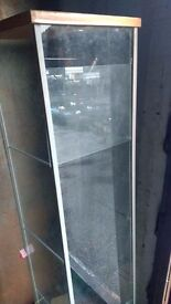 GLASS DISPLAY CABINET WITH GLASS SHELVES AVAILABLE FOR SALE