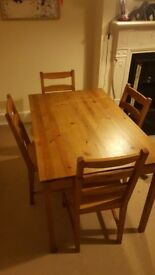 Wooden dining table - Ikea JOKKMOKK