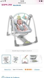 Baby swing with vibration and musical