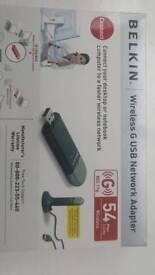 Belkin USB wireless adapter.