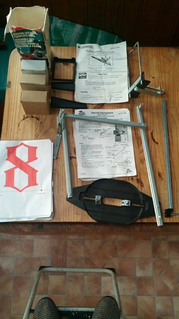 Router Letter Templates   Router Pantograph With Letter Templates In Brixham Devon Gumtree