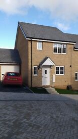 Brand new three bed home to rent near Truro close to school.