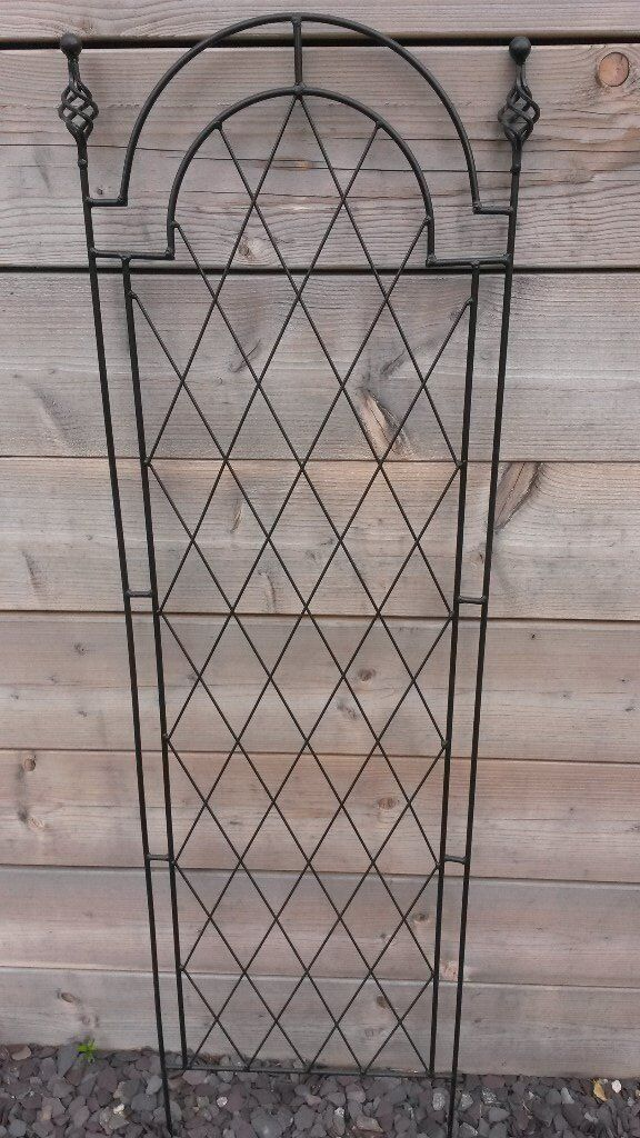 LARGE Ornamental Black Trellis Original Tom Chambers Ironwork x 6