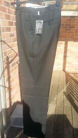 Plain slacks pants for men black
