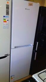 HOTPOINT white Fridge Freezer half and half new ex display