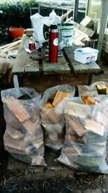 Bag's of logs