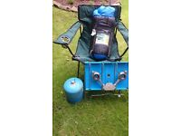 CAMPING STOVE AND CHAIR