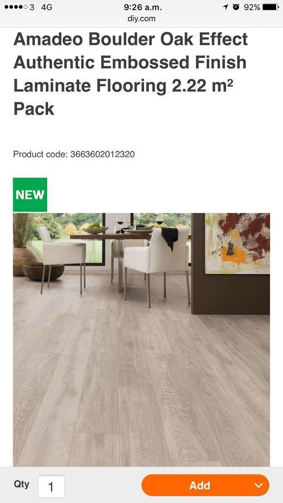 13 New Packs Of Amadeo Boulder Oak Effect Laminate Floor
