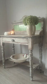 RUSTIC OLD WASH TABLE