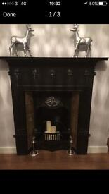 Cast iron fireplace SOLD