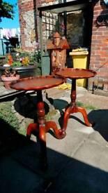 Pair of antique round tables