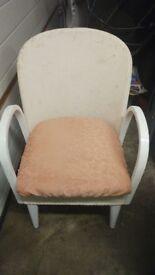 Loyd loom commode type chair