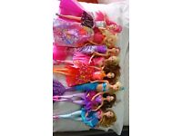Selection of 8 Barbie dolls