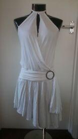 *BNWT LADIES WHITE STARK SUMMER FESTIVAL HOLIDAY USC DRESS SIZE 10 RRP £30.00*